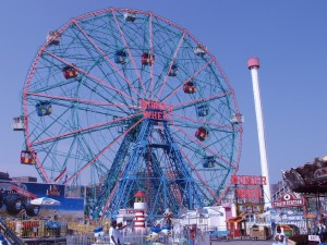 In case you're curious, this is the Wonder Wheel. Yes, I've been on it.
